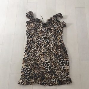 Cheetah print party dress